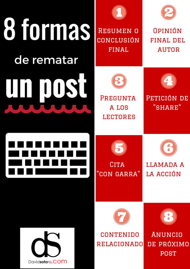 8 Formas de rematar un post